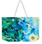 Sodium Thiosulphate Crystals In Polarized Light Weekender Tote Bag