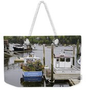 South Bristol And Fishing Boats On The Coast Of Maine Weekender Tote Bag