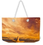 Starfish On The Beach At Sunset Weekender Tote Bag