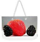 Strawberry Blackberry Weekender Tote Bag