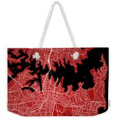 Sydney Street Map - Sydney Australia Road Map Art On Colored Bac Weekender Tote Bag