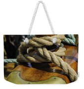 Tall Ship Rigging Vertical Weekender Tote Bag