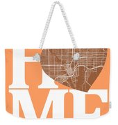 Tampa Street Map Home Heart - Tampa Florida Road Map In A Heart Weekender Tote Bag