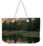 The Grand Tetons Schwabacher Landing Grand Teton National Park Weekender Tote Bag