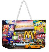 Times Square - New York City Weekender Tote Bag