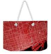 Toronto Street Map - Toronto Canada Road Map Art On Colored Back Weekender Tote Bag