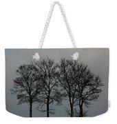 4 Trees In A Winters Landscape Weekender Tote Bag