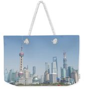 View Of Pudong In Shanghai China Weekender Tote Bag