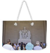 Visitors At The Lincoln Memorial Weekender Tote Bag