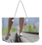 Walking On Railroad Tracks Weekender Tote Bag