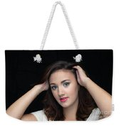 Woman Smiling Weekender Tote Bag