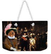 Dachshund Art Canvas Print Weekender Tote Bag