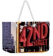 42nd Street New York City Weekender Tote Bag
