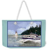 43 Foot Tollycraft Southbound In Clovos Passage Weekender Tote Bag