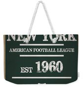 New York Jets Weekender Tote Bag