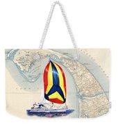 39 Foot Beneteau Cape Cod Chart Art Weekender Tote Bag