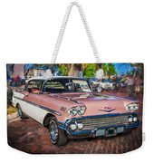 1958 Chevrolet Bel Air Impala Painted  Weekender Tote Bag
