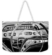 1958 Chevrolet Impala Steering Wheel Weekender Tote Bag