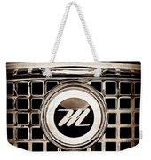 1959 Nash Metropolitan Grille Emblem Weekender Tote Bag