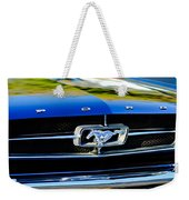 1965 Shelby Prototype Ford Mustang Grille Emblem Weekender Tote Bag