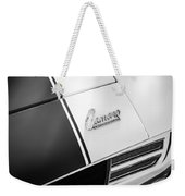 1969 Chevrolet Camaro Rs-ss Indy Pace Car Replica Hood Emblem Weekender Tote Bag by Jill Reger