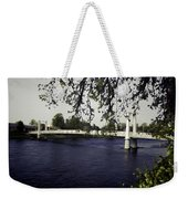 A Wonderful Suspension Bridge Over The River Ness In Inverness Weekender Tote Bag