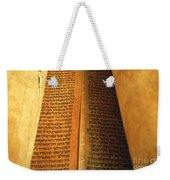 Ancient Torah Scrolls From Yemen  Weekender Tote Bag