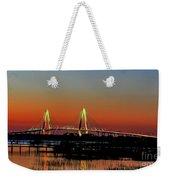 Arthur Ravenel Bridge Orange Glow Weekender Tote Bag