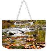 Autumn Stream Weekender Tote Bag