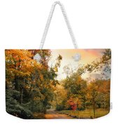 Autumn's Sunset Path Weekender Tote Bag