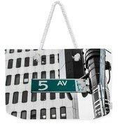 5 Ave. Sign Weekender Tote Bag
