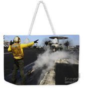 Aviation Boatswains Mate Directs An Weekender Tote Bag