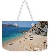 Beach In Legrena Weekender Tote Bag