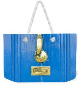 Blue Door Weekender Tote Bag by Tom Gowanlock