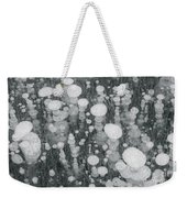 Bubbles In Ice On Abraham Lake Weekender Tote Bag