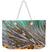 Bull Kelp Blades On Surface Background Texture Weekender Tote Bag by Stephan Pietzko