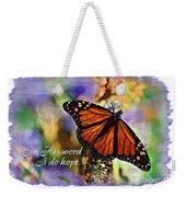 Butterfly Scripture Weekender Tote Bag