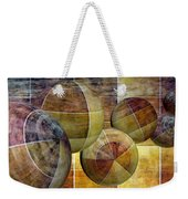 5 By 5 Gold Worlds Weekender Tote Bag
