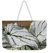 Caladium Named White Christmas Weekender Tote Bag