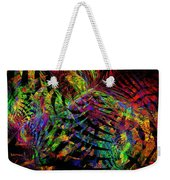 Colorful Psychedelic Abstract Fractal Art Weekender Tote Bag