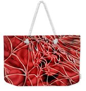 Conceptual Image Of Red Blood Cells Weekender Tote Bag