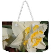 Double Daffodil Named White Lion Weekender Tote Bag