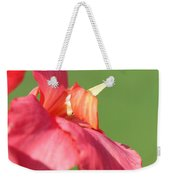 Dwarf Canna Lily Named Shining Pink Weekender Tote Bag by J McCombie