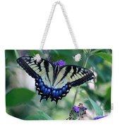 Eastern Tiger Swallowtail Butterfly On Butterfly Bush Weekender Tote Bag