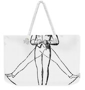 Exercise, 19th Century Weekender Tote Bag