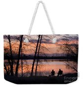 Fly Fishing At Sunset Weekender Tote Bag