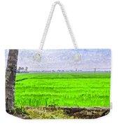 Green Fields With Birds Weekender Tote Bag