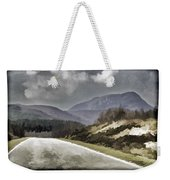 Highway Running Through The Wilderness Of The Scottish Highlands Weekender Tote Bag