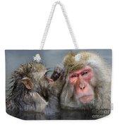 Japanese Macaques Weekender Tote Bag