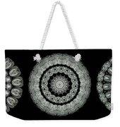 Kaleidoscope Ernst Haeckl Sea Life Series Black And White Set On Weekender Tote Bag